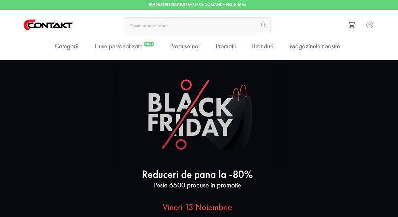 13-15 noiembrie 2020: Black Friday la Contakt.ro, cu reduceri de pana la 80%
