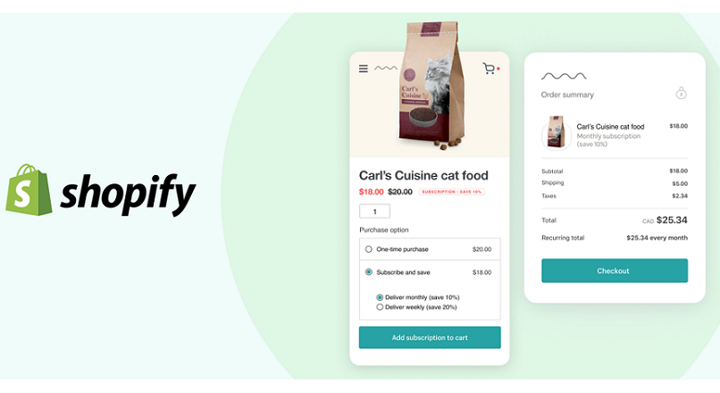Mai nou, Shopify are abonamente online si poti face upselling, dupa checkout
