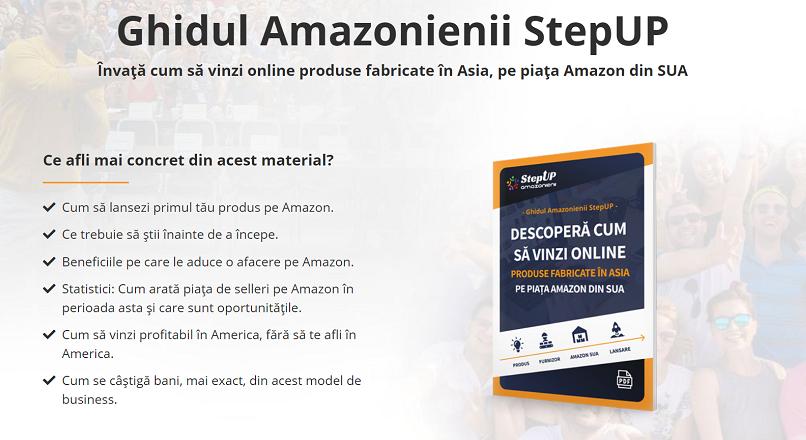 """Vrei sa vinzi pe Amazon? Te ajuta, gratuit, """"Ghidul Amazonienii StepUP""""!"""