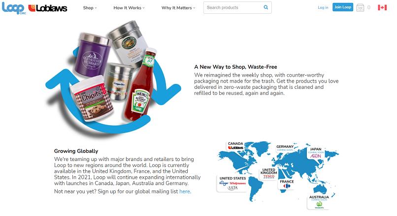 Canada: s-a lansat Loopstore, un supermarket online cu ambalaje reutilizabile
