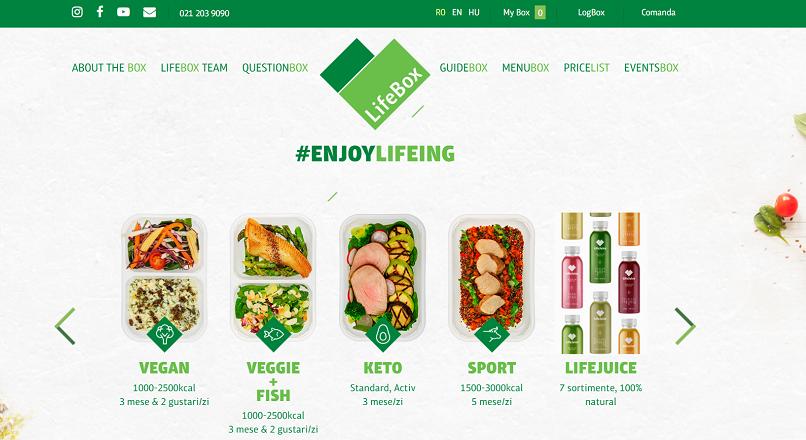 LifeBox.ro: +70% YoY comenzi de meniuri pentru slabit, dupa Sarbatori