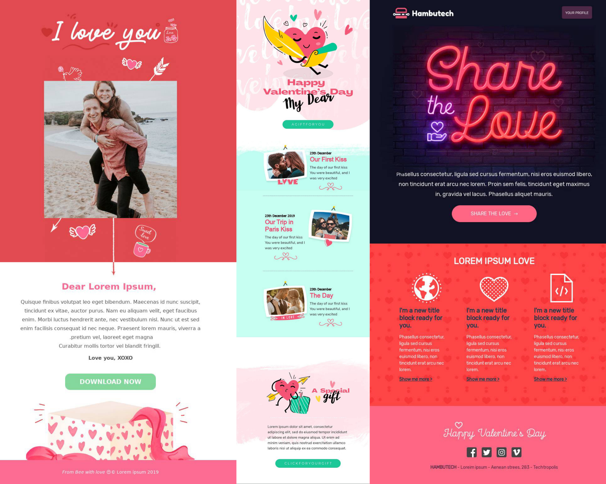 newsletter Valentine's Day