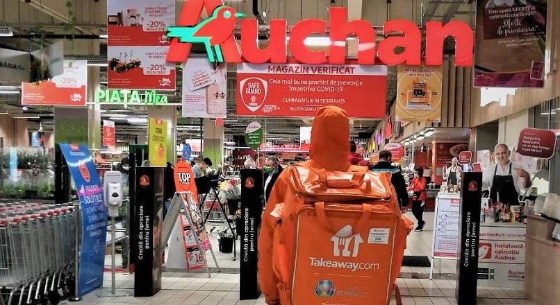 Preparatele gatite la Auchan pot fi comandate prin Takeaway.com