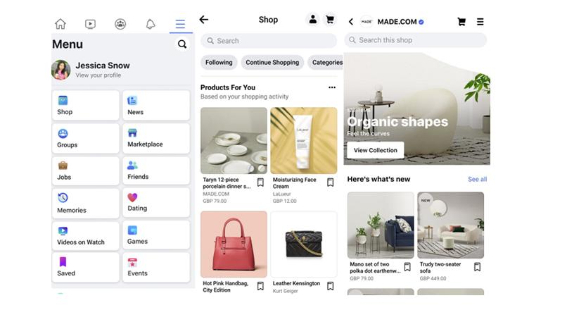 Dupa SUA, Facebook Shops s-a lansat in Marea Britanie si Canada