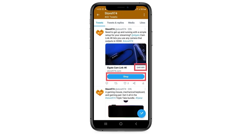 Twitter testeaza caracteristici e-commerce noi in tweet-uri