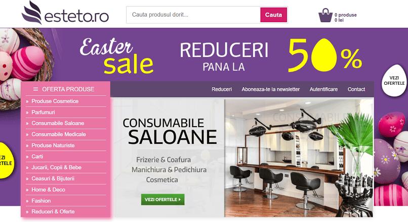 Esteto.ro: vanzari mai mari cu 74% YoY, in 2020 (4,6 milioane €)