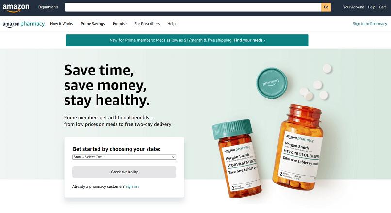 Amazon Pharmacy ofera retete online pe 6 luni, de la 6 $