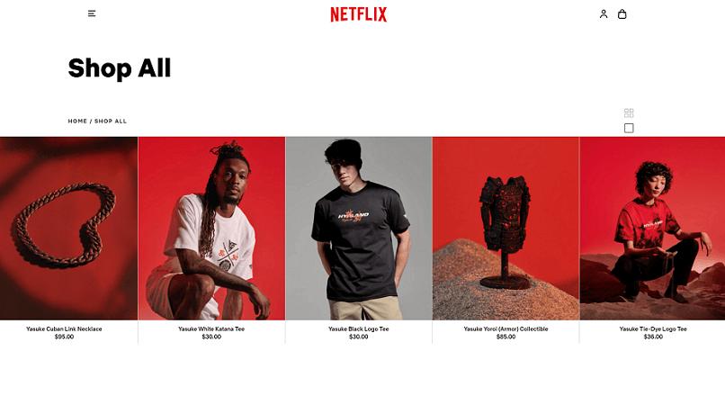 Netflix si-a lansat un magazin online, in SUA: Netflix.shop