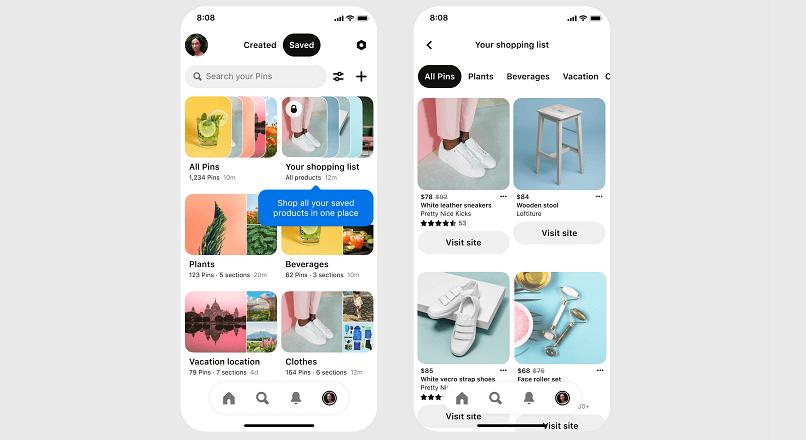 Pinterest se axeaza si mai mult pe comertul social, lansand Shopping List