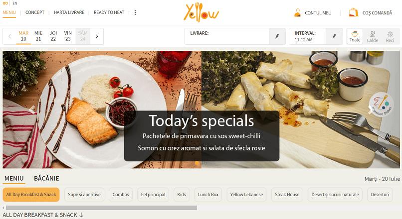 Restaurantul online Yellow.Menu, CA de peste 550.000 € (+52% YoY), in S1 2021