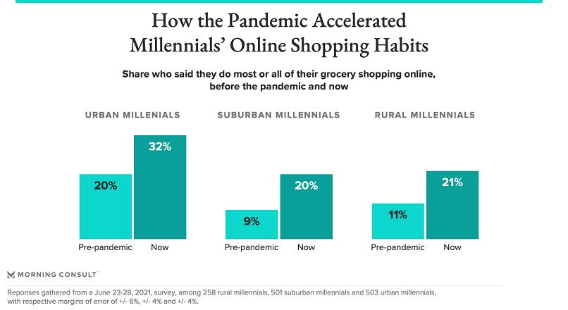 SUA: cumparaturile alimentare online, impulsionate de Generatia Y, in pandemie (sondaj)