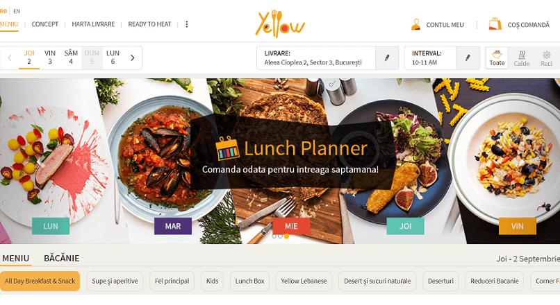 Restaurantul online Yellow.Menu a lansat meniul planificat pe 10 zile in avans