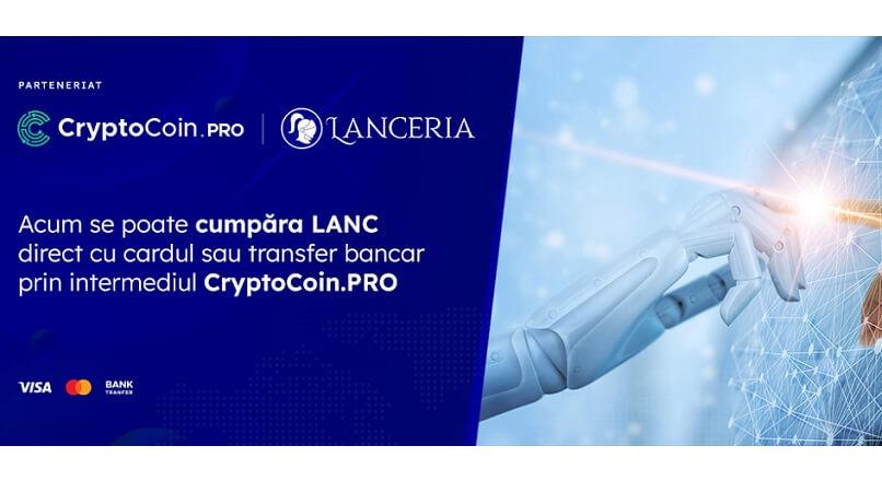 Criptomoneda romaneasca LANC poate fi cumparata cu un card bancar, in peste 180 de tari