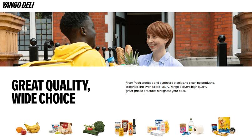 App-ul Yango Deli livreaza alimente in 15 minute, in Londra